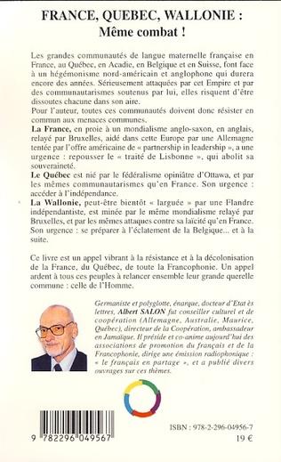 4eme France, Québec, Wallonie : même combat !