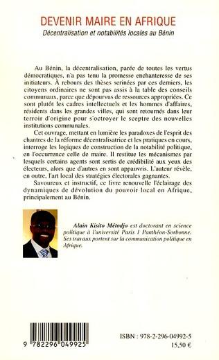 4eme Devenir maire en Afrique
