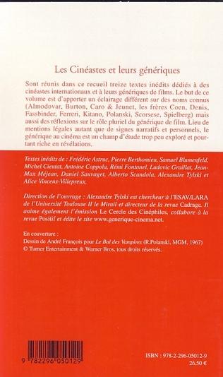 4eme Les Cinéastes et leurs génériques