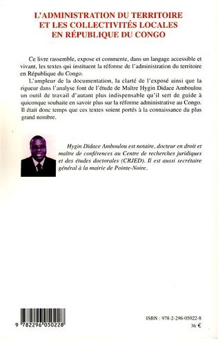 4eme L'administration du territoire et les collectivités locales en République du Congo
