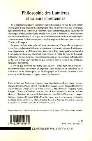 4eme Philosophie des Lumières et valeurs chrétiennes