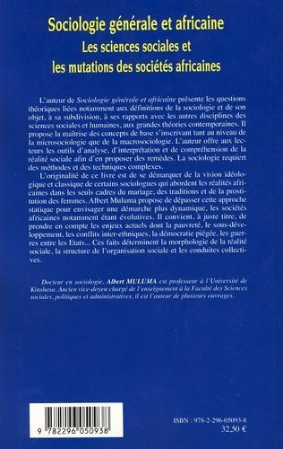 4eme Sociologie générale et africaine