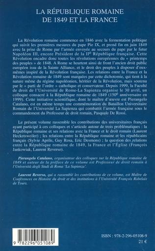 4eme La République romaine de 1849 et la France