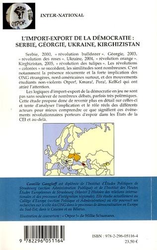 4eme L'import-export de la démocratie : Serbie, Géorgie, Ukraine, Kirghizistan
