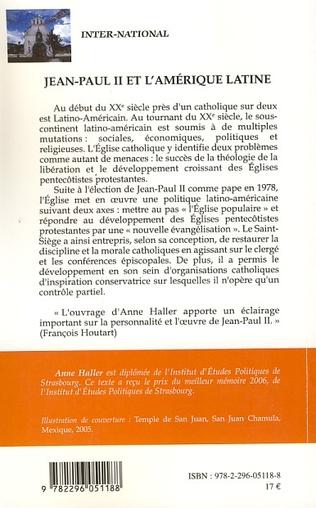 4eme Jean-Paul II et l'Amérique latine
