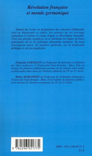 4eme Révolution française et monde germanique