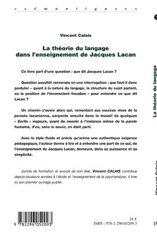 4eme La théorie du langage dans l'enseignement de Jacques Lacan