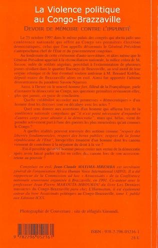 4eme La violence politique au Congo-Brazzaville