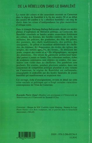 4eme De la rébellion dans le Bamiléké (Cameroun)