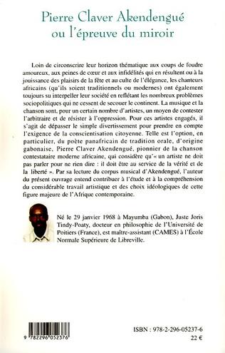 4eme Pierre Claver Akendengué ou l'épreuve du miroir
