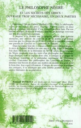 4eme Le Philosophe Nègre