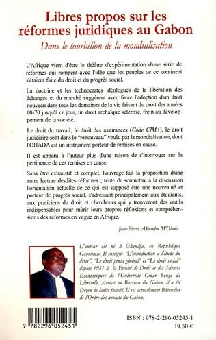 4eme Libres propos sur les réformes juridiques au Gabon