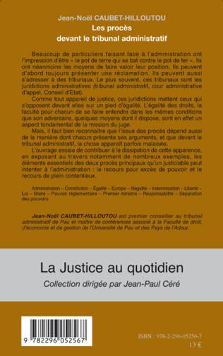 4eme Les procès devant le tribunal administratif