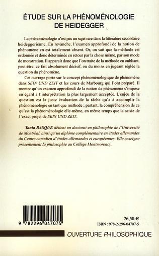 4eme Etude sur la phénoménologie de Heidegger