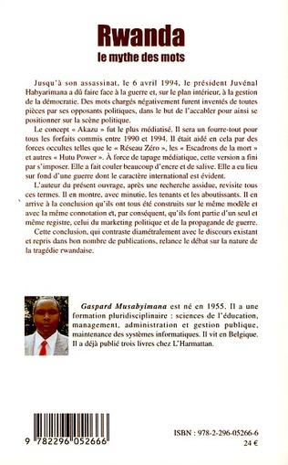 4eme Rwanda le mythe des mots