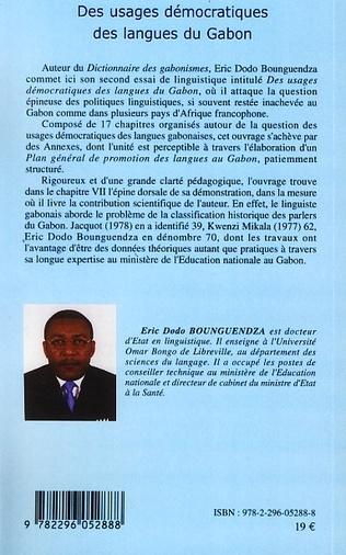 4eme Des usages démocratiques des langues du Gabon
