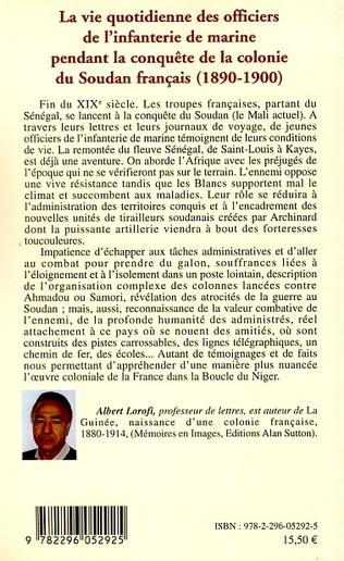 4eme La vie quotidienne des officiers de l'infanterie de marine pendant la conquête de la colonie du Soudan français