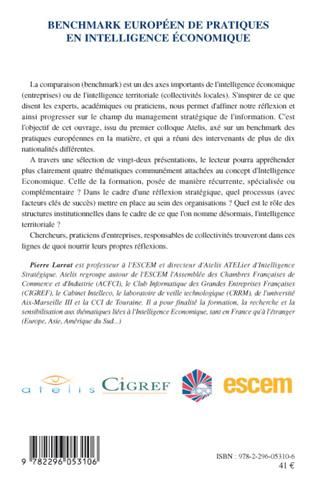 4eme Benchmark européen de pratiques en intelligence économique