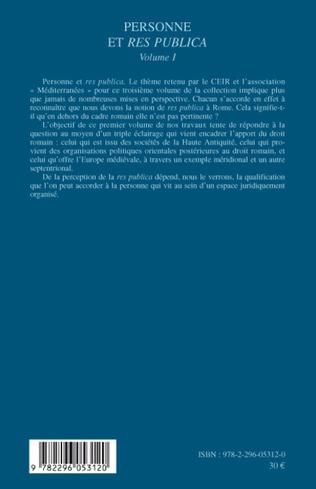4eme Personne et Res Publica Volume I