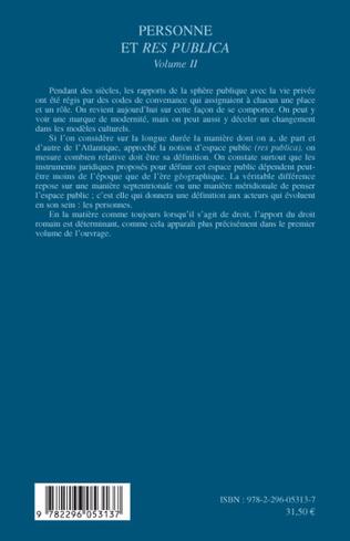 4eme Personne et Res Publica Volume II