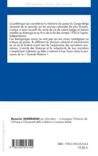 4eme Belges et italiens du Congo-Kinshasa