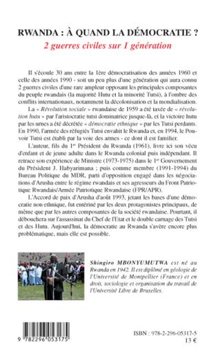 4eme Rwanda à quand la démocratie ?