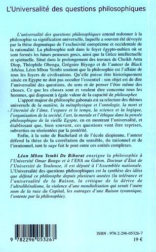 4eme L'universalité des questions philosophiques