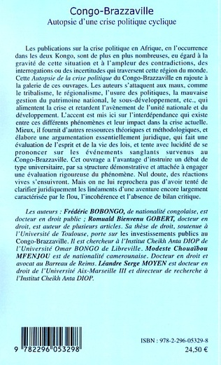 4eme Congo-Brazzaville Autopsie d'une crise politique cyclique