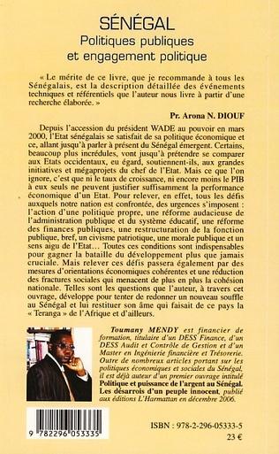 4eme Sénégal politiques publiques et engagement politique