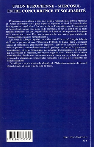 4eme Union européenne - Mercosul : entre concurrence et solidarit