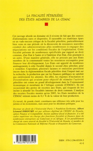 4eme La fiscalité pétrolière des Etats membres de la CEMAC