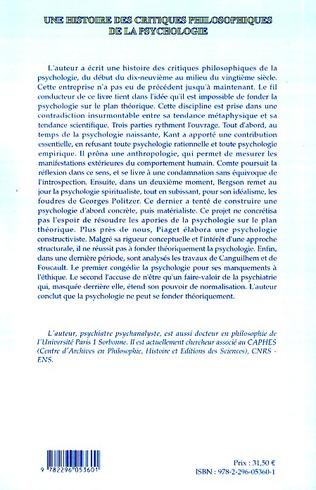 4eme Une histoire des critiques philosophiques de la psychologie