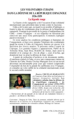 4eme Les volontaires cubains dans la défense de la République espagnole