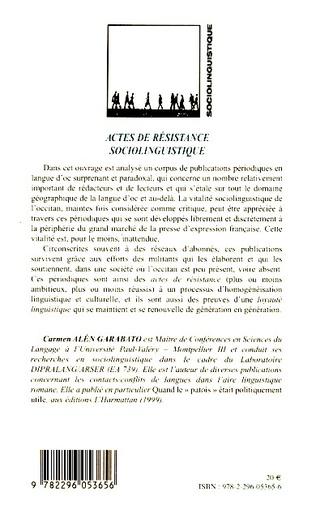 4eme Actes de résistance sociolinguistique