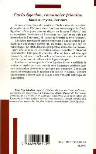 4eme Carlo Sgorlon, romancier frioulan