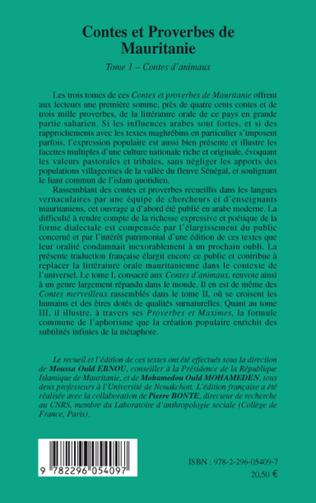 4eme Contes et proverbes de Mauritanie - Tome I