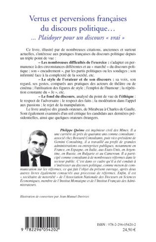 4eme Vertus et perversions françaises du discours politique...
