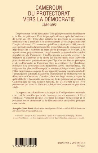 4eme Cameroun du protectorat vers la démocratie