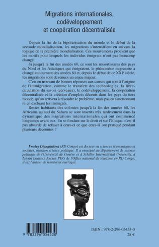 4eme Migrations internationales, codéveloppement et coopération décentralisée