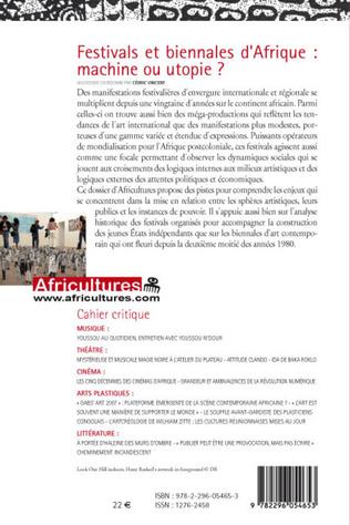 4eme Festivals et biennales d'Afrique: machine ou utopie ?
