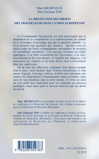 4eme La protection des droits des travailleurs dans l'Union européenne