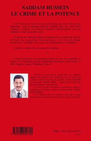4eme Saddam Hussein le crime et la potence