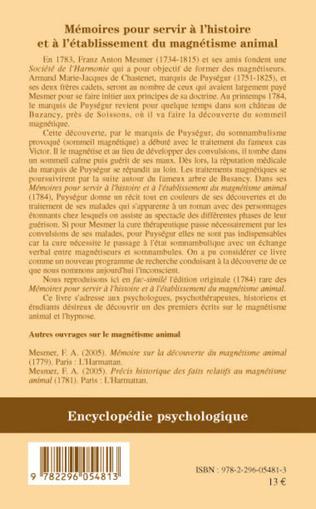 4eme Mémoires pour servir à l'histoire et à l'établissement du magnétisme animal