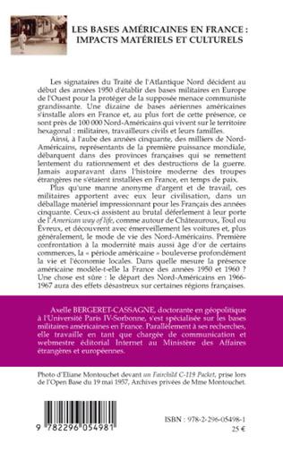 4eme Les bases américaines en France : impacts matériels et culturels