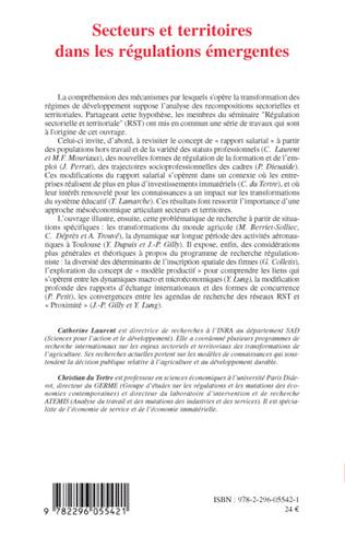 4eme Régulations sectorielles et territoriales au cœur du nouveau régime d'accumulation