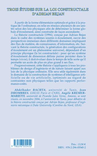 4eme Trois études sur la loi constructale d'Adrian Bejan