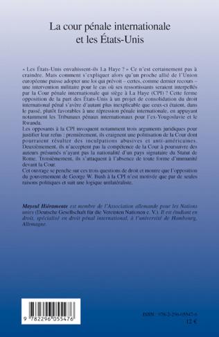 4eme La cour pénale internationale et les Etats-Unis