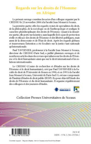 4eme REGARDS SUR LA JUSTICE ET LES DROITS DE L'HOIMME EN AFRIQUE : LES JURIDICTIONS INTERNATIONALES OU INTERNATIONALISEES COMPETENTES POUR CONNAITRE DES VIOLATIONS LES PLUS GRAVES DU DROIT HUMANITAIRE COMMISES EN AFRIQUE