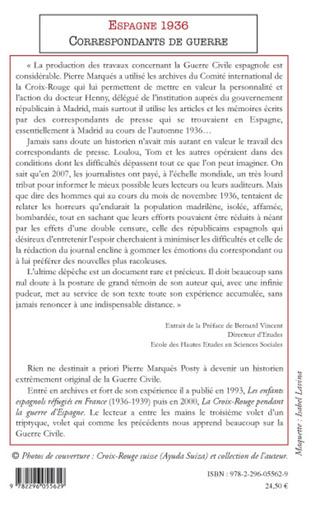 4eme Espagne 1936, correspondants de guerre