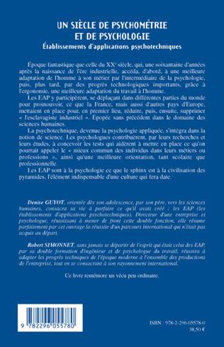 4eme Un siècle de psychométrie et de psychologie